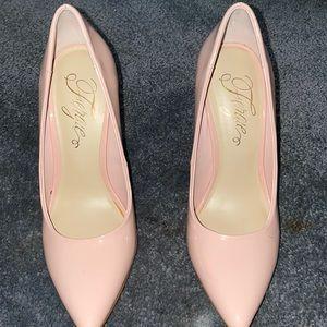 pink fergie heels size 7
